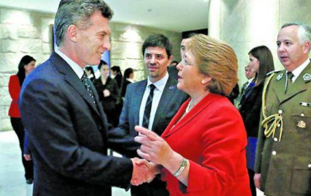Macri se reunió con Bachelet en la Casa de la Moneda.