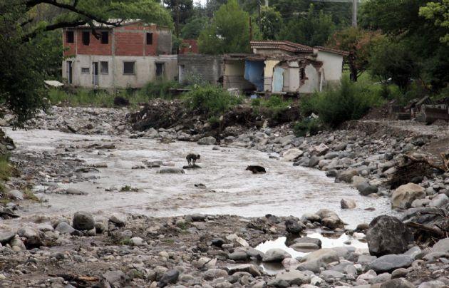 Las Sierras Chicas se recuperan de las crecidas de las últimas horas.