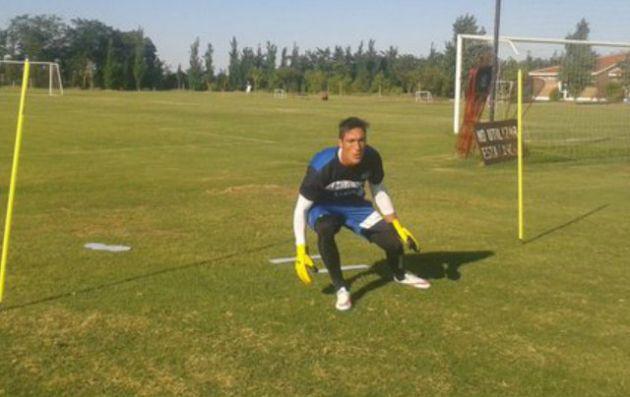 Caranta, en su primer entrenamiento en Talleres (Fotos: @CATalleresdecba)