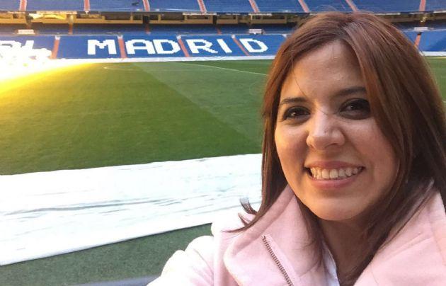 Geo Monteagudo en el Santiago de Bernabéu