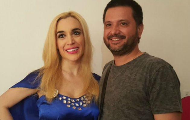 Fátima Florez junto a Jorge Rojas.