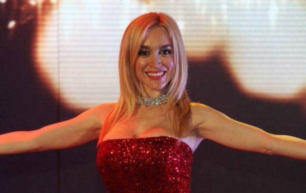 Fátima Flores, en la entrega de los premios Carlos.