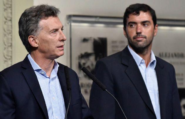 Macri junto a Basavilbaso en la conferencia de prensa en Casa de Gobierno.