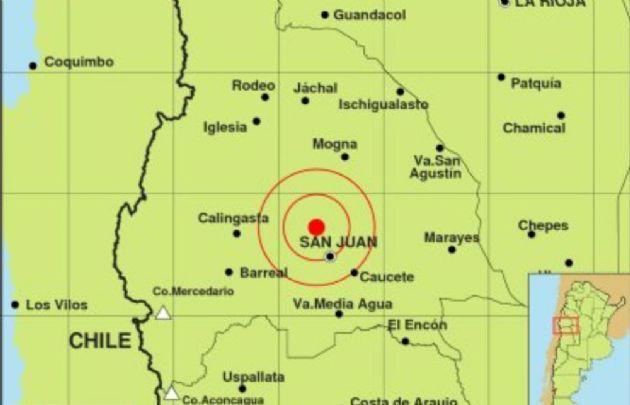 El sismo se registró a 28 kilómetros de la capital sanjuanina.