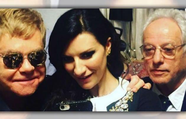 Elton John y Laura Pausini, figuras en el Festival de San Remo (Foto: Star Media)