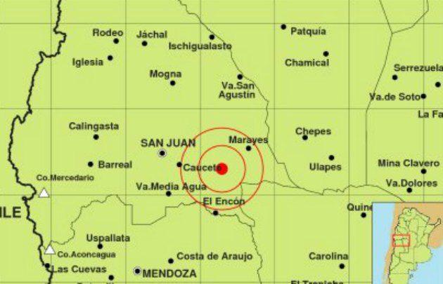 Un sismo de 5,7 sacudió a San Juan.