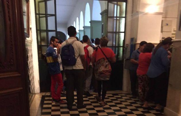 Día con actividad normal en el Colegio Santo Tomás.