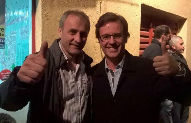 Díaz Yofré, junto al dirigente macrista Héctor Baldassi (Foto: Archivo)