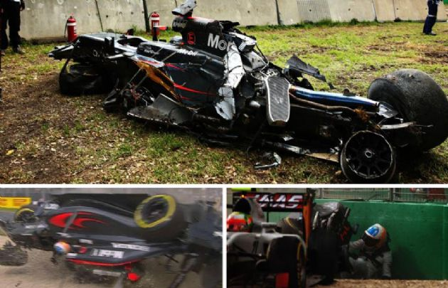 Accidente de Fernando Alonso en la F1.