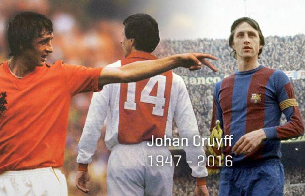 Desde la cuenta de Twitter oficial @JohanCruyff homenajearon al holandés.