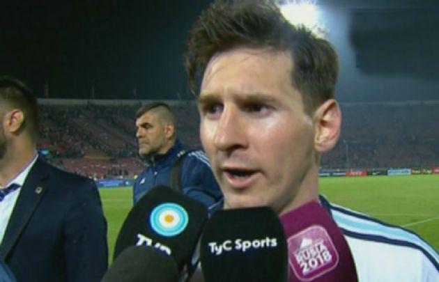 Messi, habló con la prensa tras la victoria en Chile.