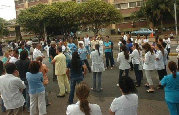 Asamblea de trabajadores de salud (Foto archivo)
