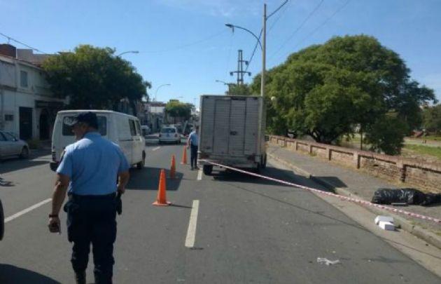 La Policía intenta delimitar las causas del siniestro (Foto: Virginia Barbagallo)