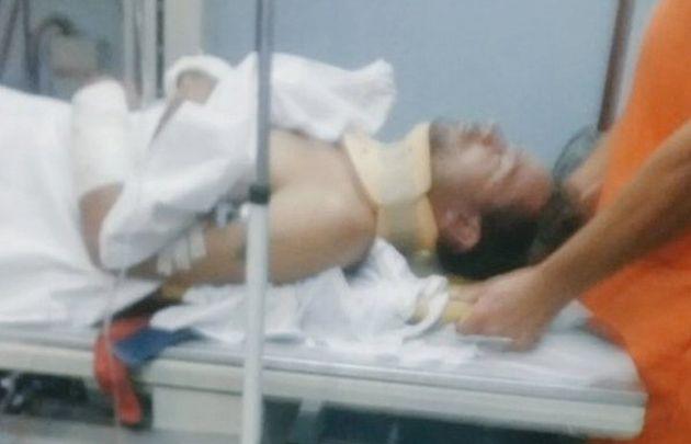 En un primer momento, el cantante fue asistido en un hospital de Cañuelas.