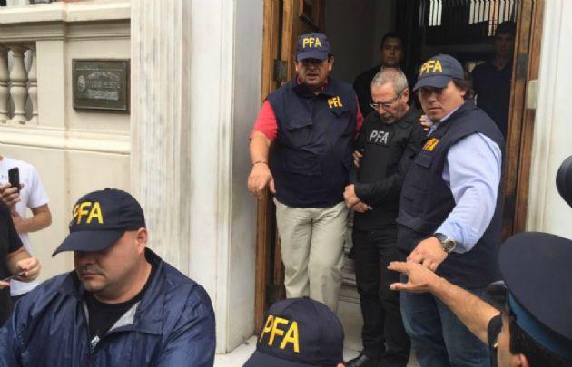 Jaime, al ser detenido el sábado pasado en la Policía Federal en Córdoba.