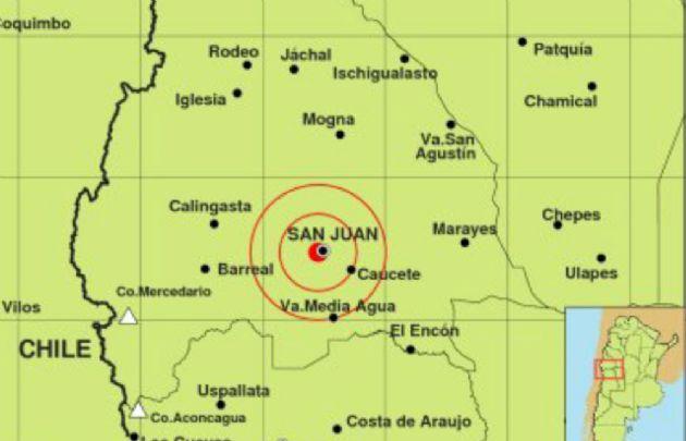 El sismo se registró a 4 kilómetros hacia el sudoeste de San Juan.
