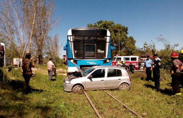 El Tren de las Sierras chocó con un auto en Bialet Massé.
