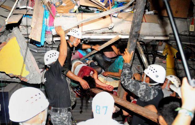 Ecuador fue sacudido por un potente terremoto.