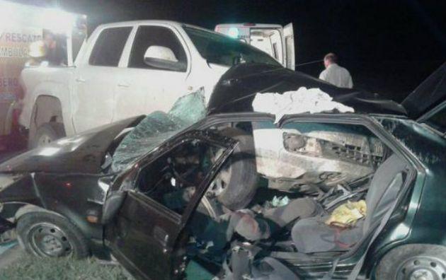 El accidente se produjo en la ruta 8 cerca de Reducción (Foto: Telediario Digital).