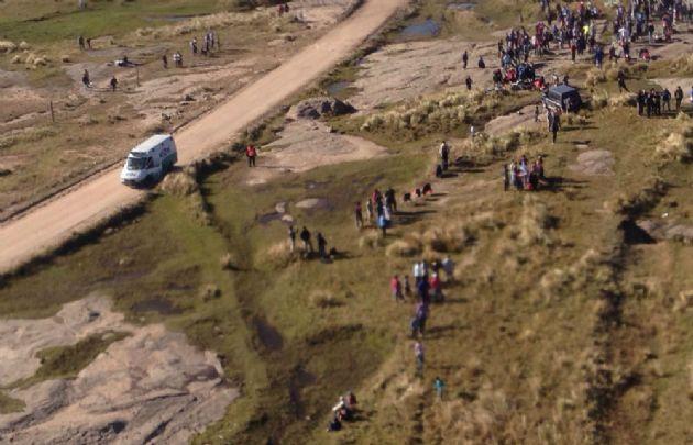 La víctima aguardaba el paso de los autos en el tramo Los Gigantes-Cantera El Condor.