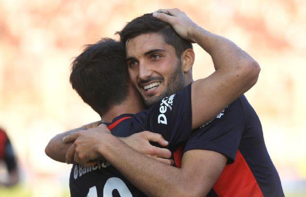 Blandi marcó el gol de San Lorenzo en el clásico ante Huracán.