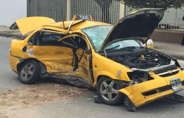 Así quedaron los autos tras el accidente.