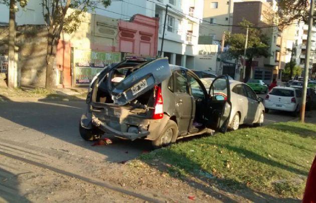 Espectacular accidente en Santa Fe.