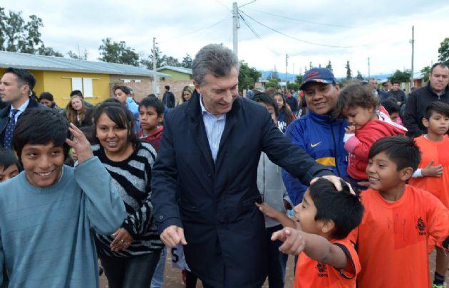 Macri encabezó un acto en la provincia de Jujuy.