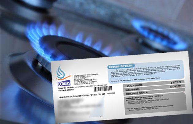 La tarifa de gas en Córdoba aumentó 115,72%.