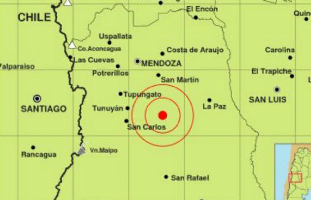 Sismo sentido con epicentro en Mendoza.