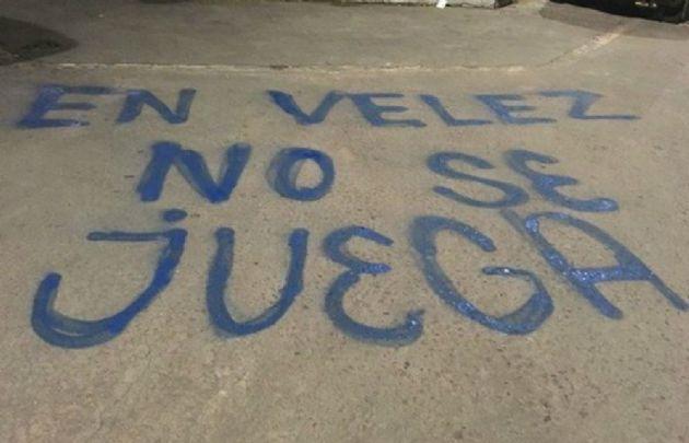 Las pintadas amenazantes contra San Lorenzo.