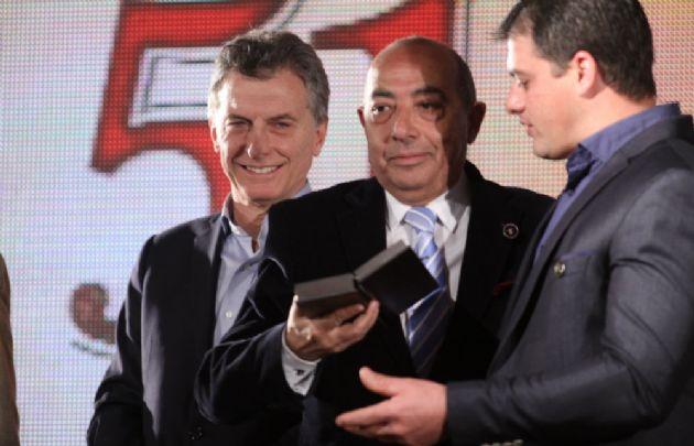 Macri estuvo en la entrega del premio a Mario Pereyra.