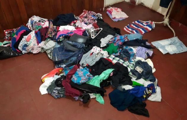 La ropa robada que lograron recuperar.