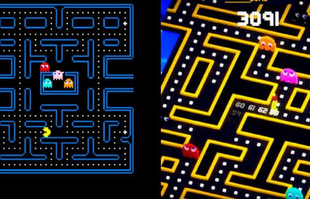 Pac Man, uno de los juegos más populares. Antes y ahora.