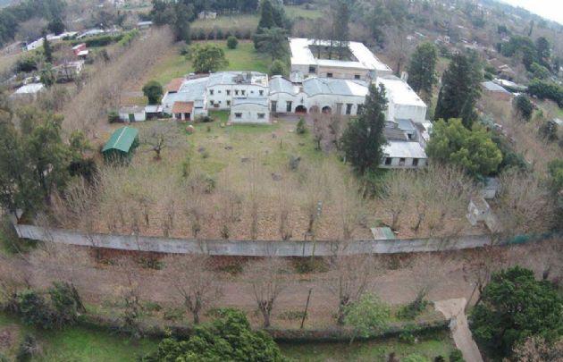 El convento donde fue detenido José López en General Rodríguez.