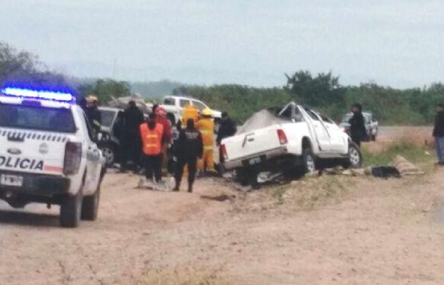 El accidente fue a la altura de Hipólito Yrigoyen.
