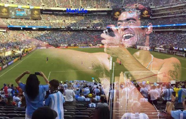 Rodrigo estuvo presente en el estadio de la final.