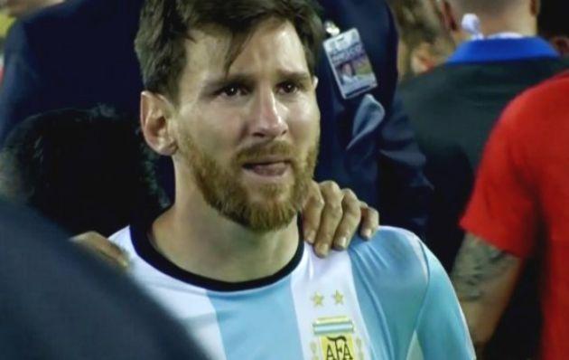 Las lágrimas de Messi