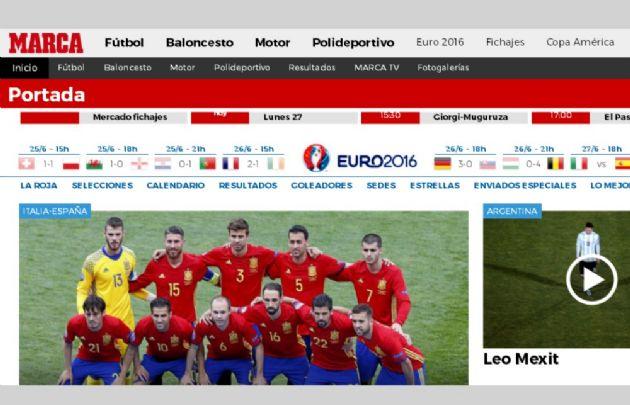 El diario Marca de España habla del