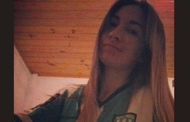 Yohana Fucks, entrerriana, hincha de Racing y fanática de Lionel Messi