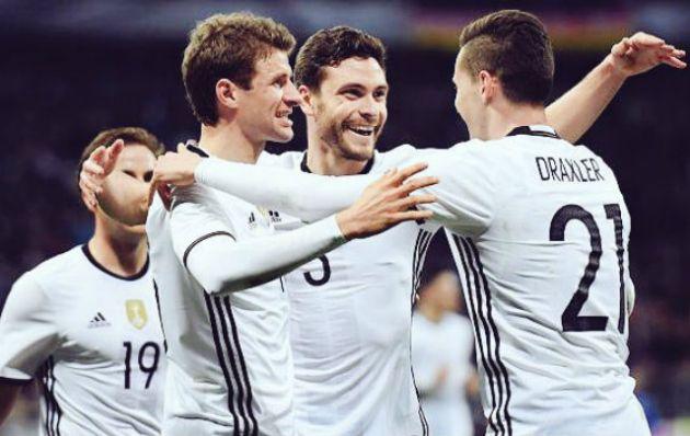 Alemania festejó por penales y está en semifinales de la Eurocopa.