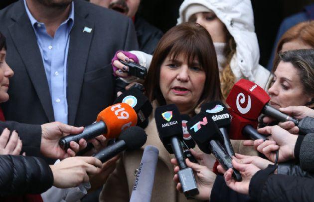 La ministra de Seguridad apuntó contra los jueces  por falta de severidad.