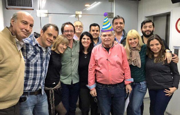 Rony celebró su cumpleaños junto a todo su equipo.
