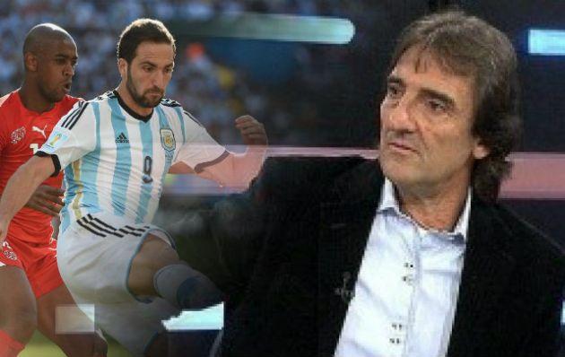 Gonzalo Higuaín y su padre Jorge, dos hombres de fútbol.