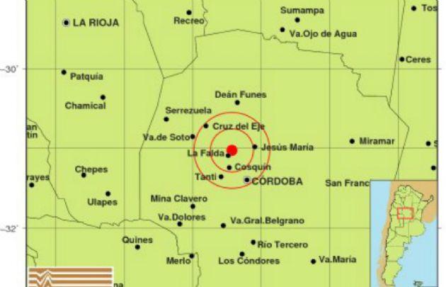 El movimiento telúrico tuvo su origen a 4 kilómetros al noreste de La Falda.