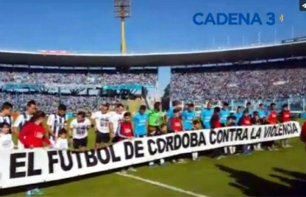 Talleres y Belgrano, en un mensaje contra la violencia en el fútbol.
