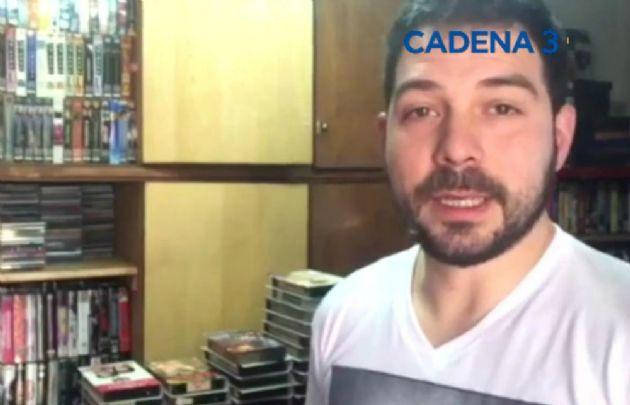 Juan Manuel Quiroga, coleccionista de VHS.