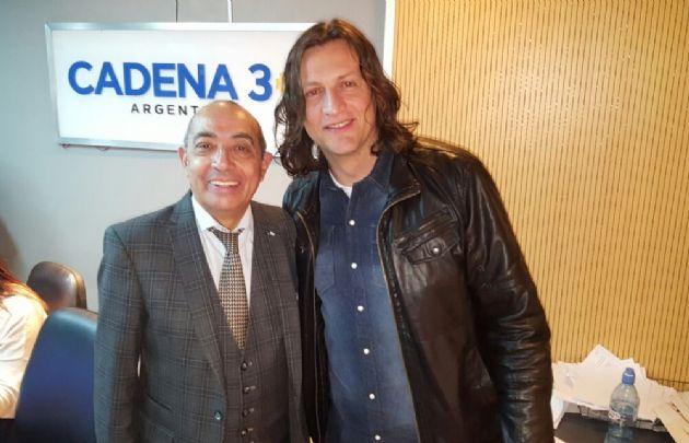 Jorge Vázquez trajo tango a los estudios de <b>Cadena 3</b>.