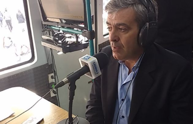 José Cano, en la unidad satelital de Cadena 3 en La Rural.