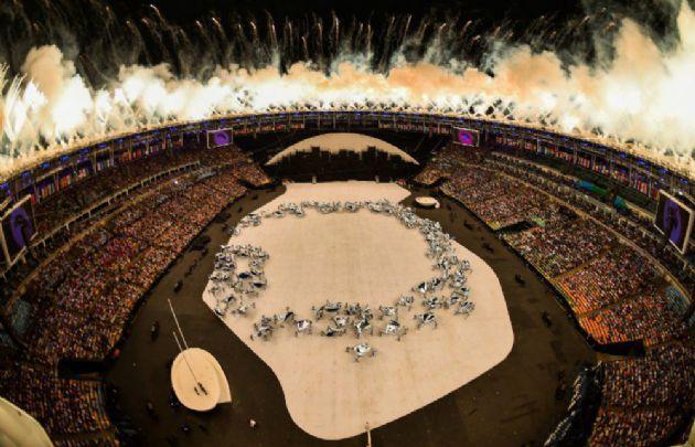 El Maracaná brilló en la apertura de los Juegos Olímpicos.